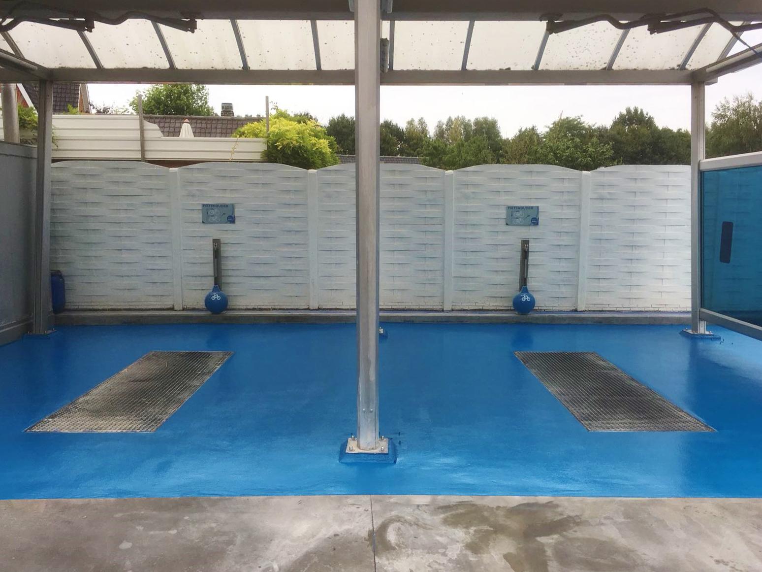 Coating voor automotive en carwash - Waterdichte troffelvloeren met antislip